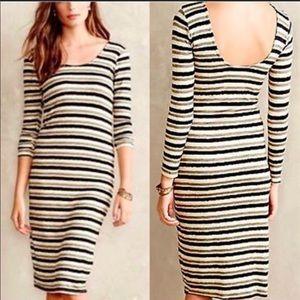 Anthropologie Dolan striped body con dress - M